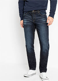 Slim Fit sztreccsfarmer, Tapered sötét denim John Baner JEANSWEAR 1