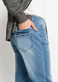 Regular Fit multi-sztreccsfarmer, Tapered kék koptatott John Baner JEANSWEAR 4