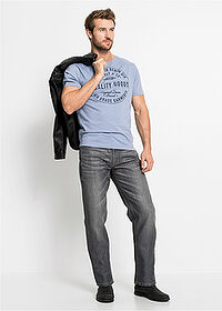 Jeanși Regular Fit Straight gri John Baner JEANSWEAR 3