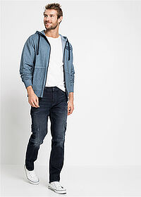 Dżinsy bojówki ze stretchem Slim Fit Straight ciemny denim John Baner JEANSWEAR 3