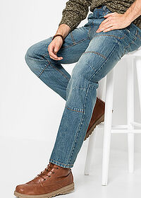 "Dżinsy Regular Fit Straight niebieski ""medium bleached (dirty overdyed"" John Baner JEANSWEAR 4"