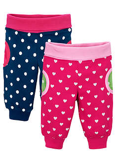 Pantaloni bebe (2buc/pac), bumbac ecologic bpc bonprix collection 21