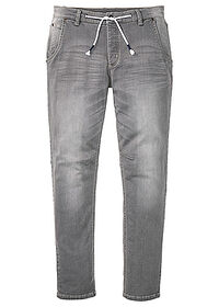 Jeans regular fit, tapered gri denim deschis RAINBOW 0