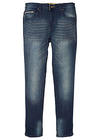 Blugi Slim Fit stretch, straight bleumarin stone John Baner JEANSWEAR 0