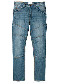 "Dżinsy Regular Fit Straight niebieski ""medium bleached (dirty overdyed"" John Baner JEANSWEAR 0"