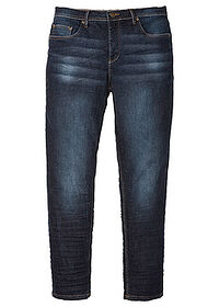 Slim Fit sztreccsfarmer, Tapered sötét denim John Baner JEANSWEAR 0