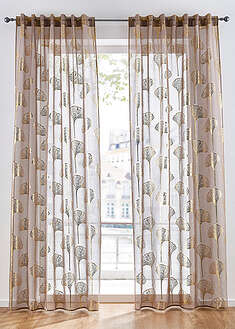 Perdea transparent cu print lucios (1buc/pac)-bpc living bonprix collection