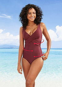 Costum baie shape, nivel 3 lila bpc bonprix collection 1