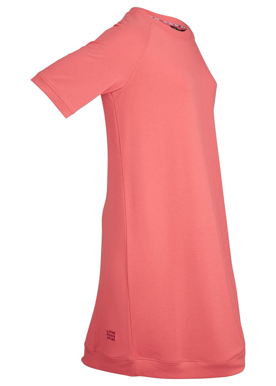 Sukienka dresowa, krótki rękaw bonprix koralowy
