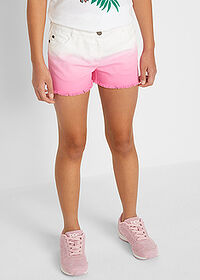 Short twill fete, cu degradeu alb-roz flamingo John Baner JEANSWEAR 1