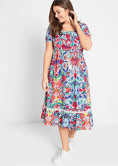 Rochie cu imprimeu tropical-bpc bonprix collection