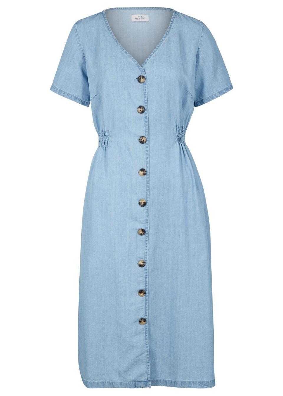 Sukienka midi przyjazna dla środowiska,  Lyocell TENCEL™ bonprix Spódnica prz.śr j.ni.bl