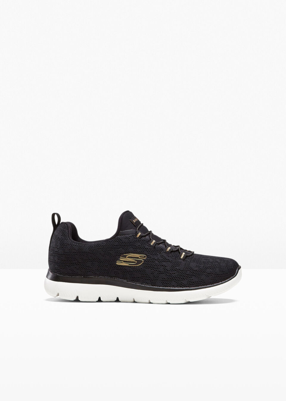 Sneakersy Skechers z pianką Memory bonprix czarny - leo