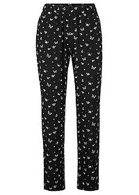 Pantaloni din viscoză negru imprimat bpc bonprix collection 0