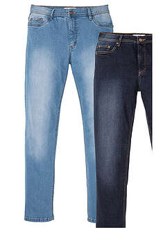 Dżinsy ze stretchem Regular Fit Straight ( 2 pary)-John Baner JEANSWEAR
