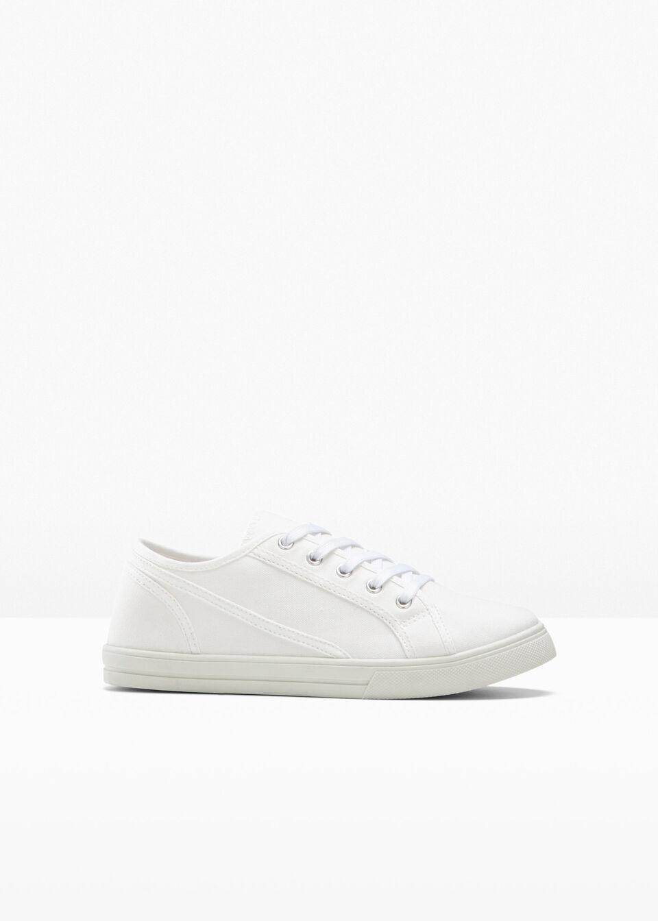 Sneakersy przyjazne dla środowiska bonprix kremowy