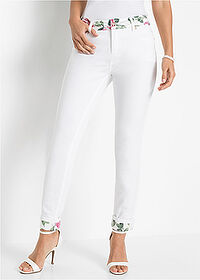 Pantaloni slim fit alb BODYFLIRT boutique 1
