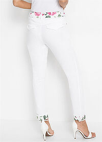 Pantaloni slim fit alb BODYFLIRT boutique 2