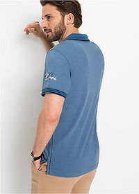 Tricou polo regular fit albastru denim bpc selection 2