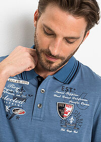 Tricou polo regular fit albastru denim bpc selection 5