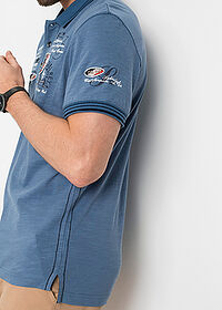 Tricou polo regular fit albastru denim bpc selection 4