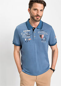 Tricou polo regular fit albastru denim bpc selection 1