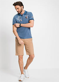 Tricou polo regular fit albastru denim bpc selection 3