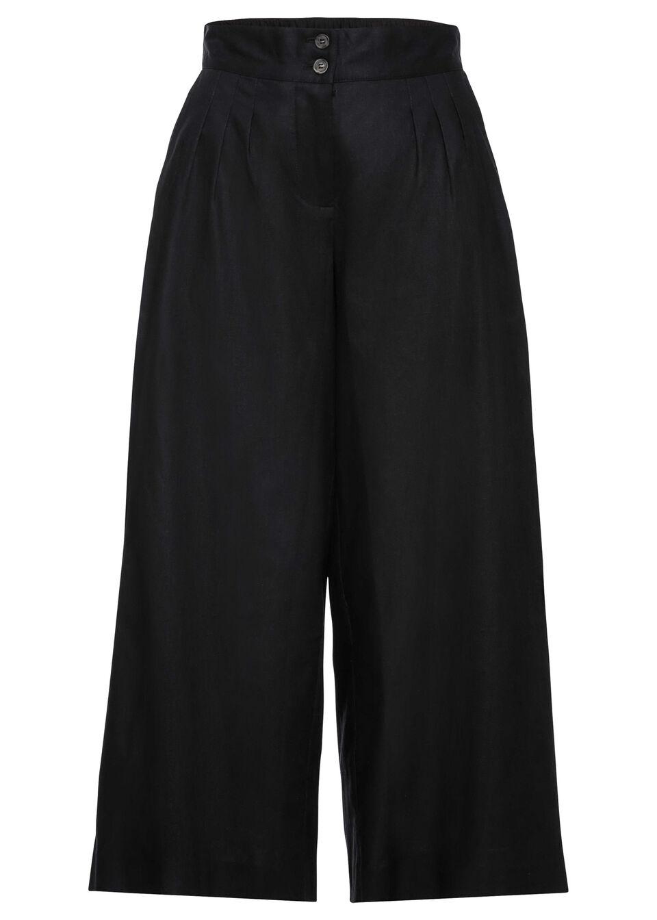Spodnie culotte bonprix czarny