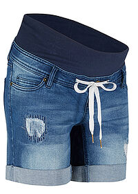 Short denim gravide albastru stone bpc bonprix collection 0