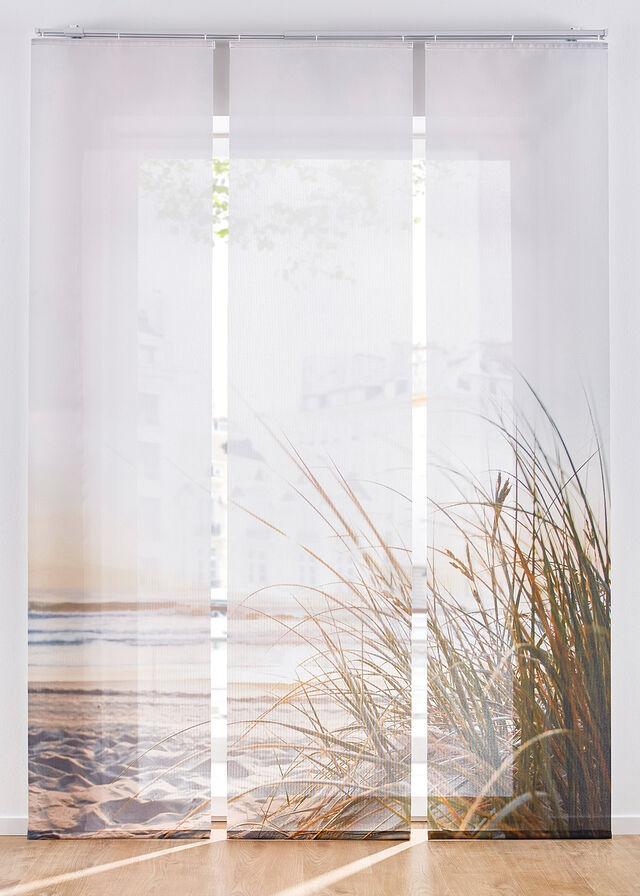 Panelová záclona s motívom pláže (3 ks)