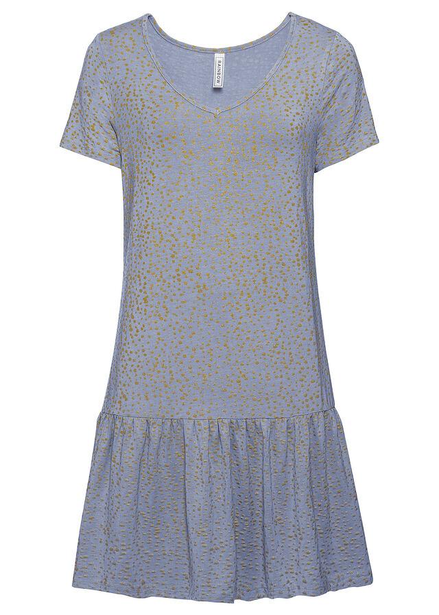 Upletové šaty s volánom
