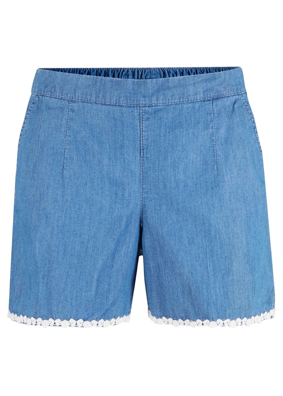 Szorty dżinsowe bonprix jasnoniebieski