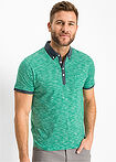 Tricou polo cu guler ţesut verde melanj bpc bonprix collection 4