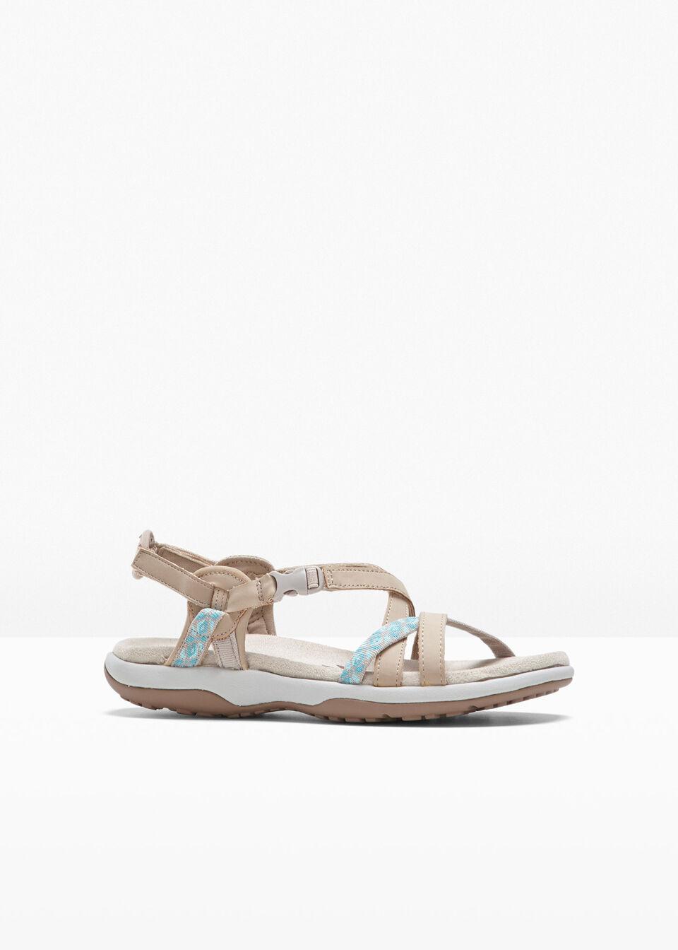 Sandały Skechers bonprix beżowy