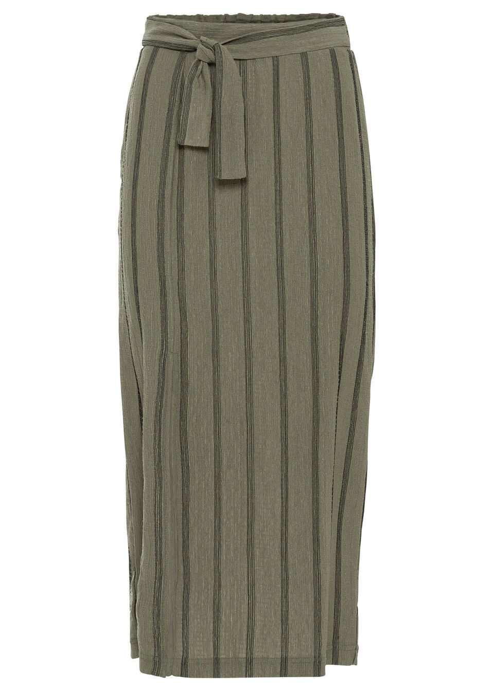 Spódnica z dżerseju bonprix oliwkowy w paski