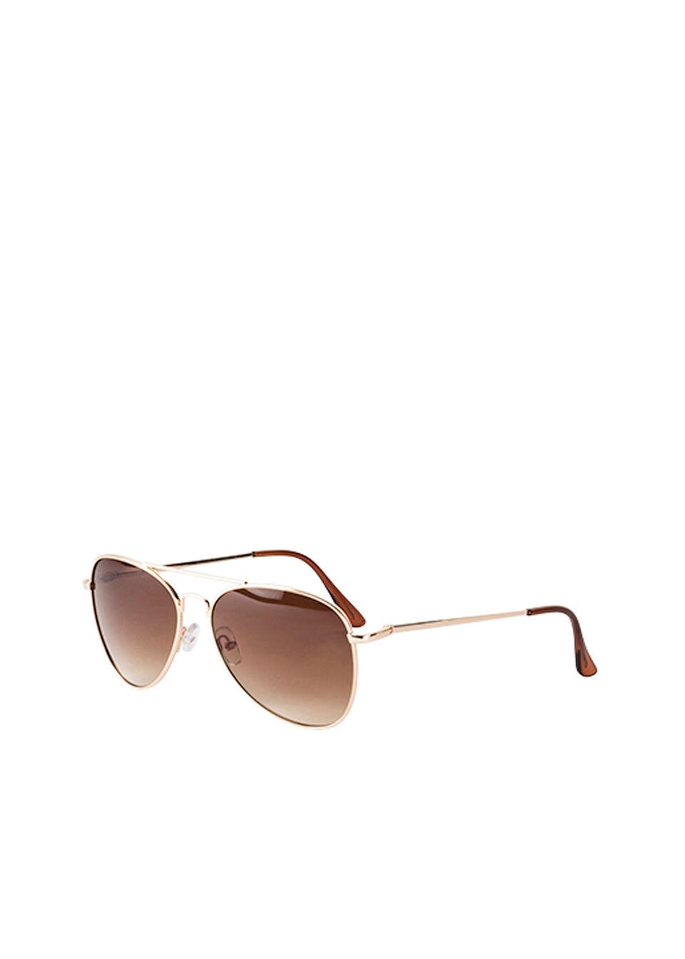 Okulary przeciwsłoneczne bonprix koniakowo-złoty kolor
