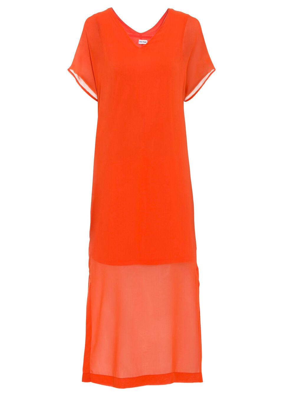 Sukienka bonprix mandarynkowo-czerwony