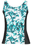 Top pla?owy tankini czarno-zielony z nadrukiem bpc bonprix collection 0