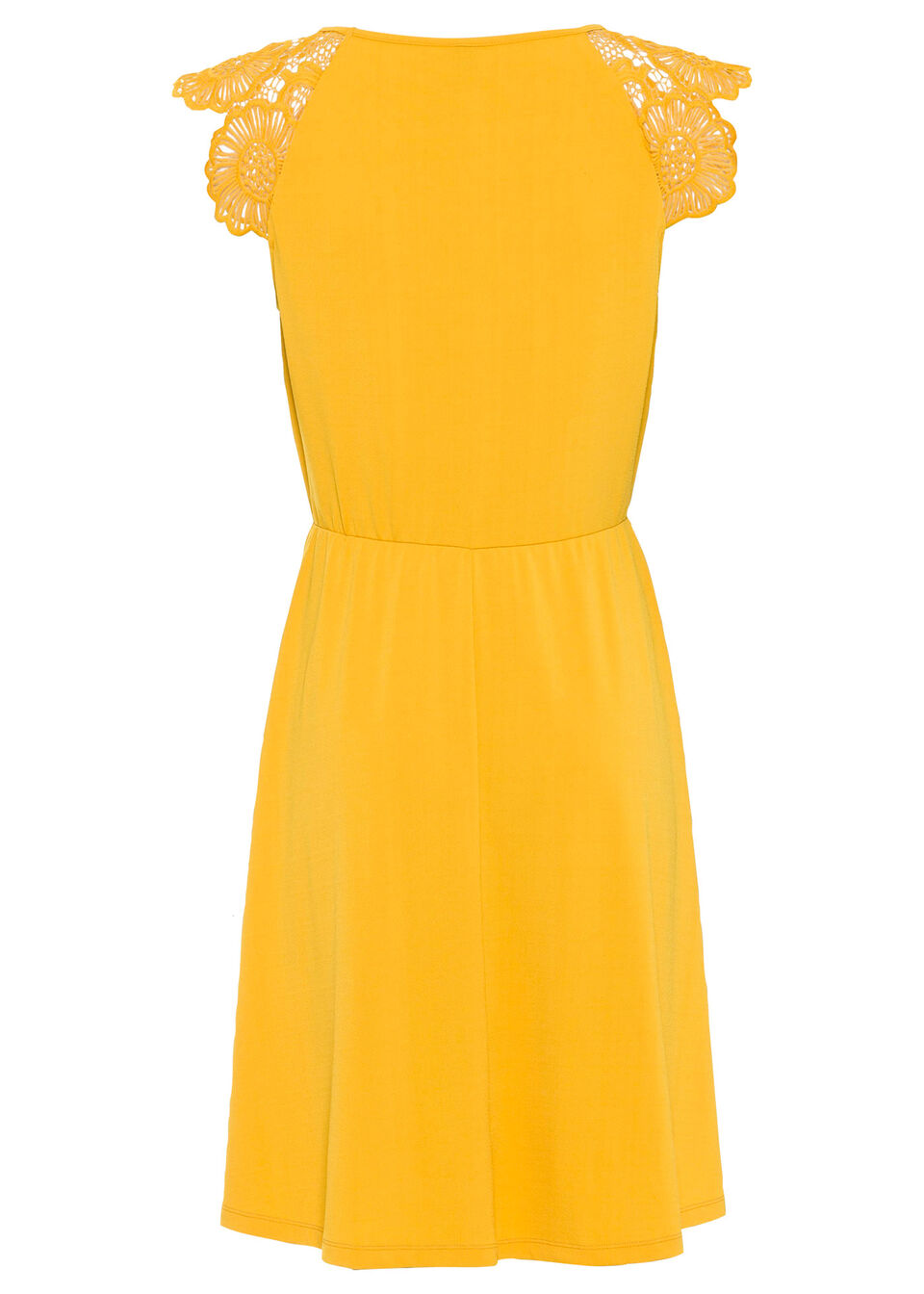 Sukienka z dżerseju bonprix żółty szafranowy