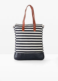 Torba shopper kobaltowy w paski bpc bonprix collection 1