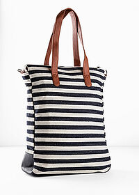 Torba shopper kobaltowy w paski bpc bonprix collection 4