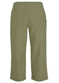 Pantaloni 3/4 cu broderie oliv bpc bonprix collection 1