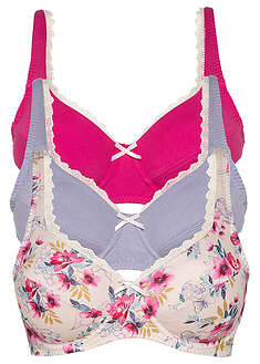 Sutien bumbac organic (3buc/pac)-bpc bonprix collection