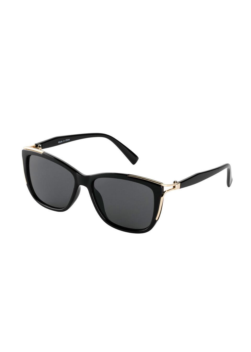 Okulary przeciwsłoneczne bonprix czarno-złoty