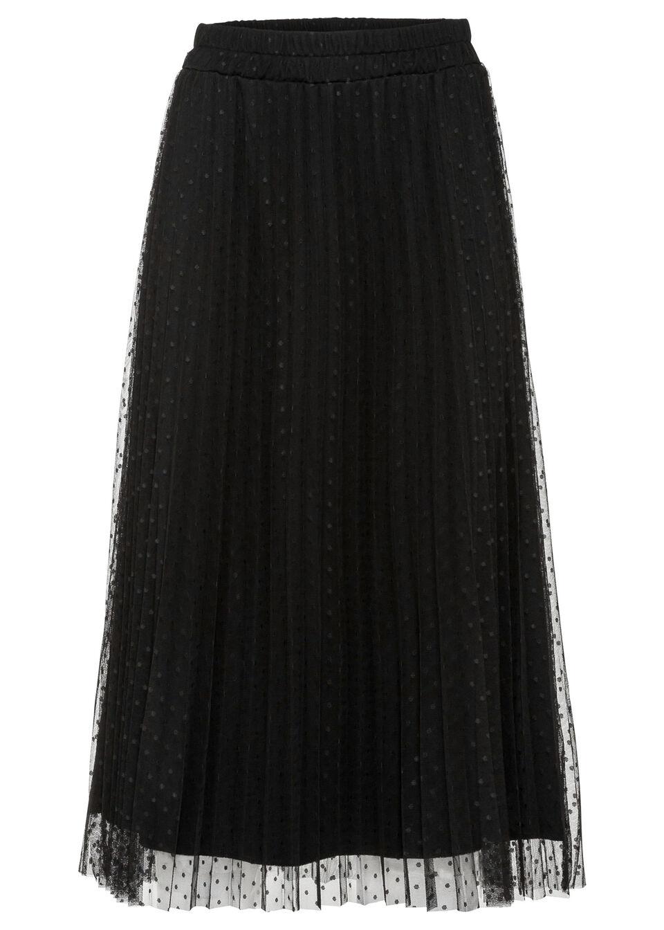 Spódnica plisowana w kropki bonprix czarny