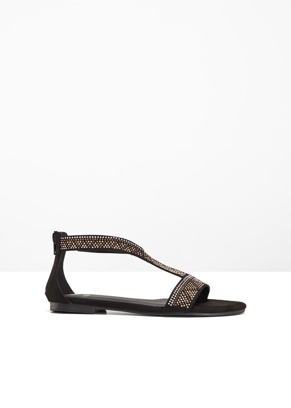 Sandały bonprix Sandały czarny
