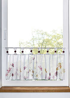 Perdea scurtă cu print floral bpc living bonprix collection 28
