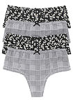 Chilot panty  (4buc/pac) negru-alb-galben pal floral bpc bonprix collection 0