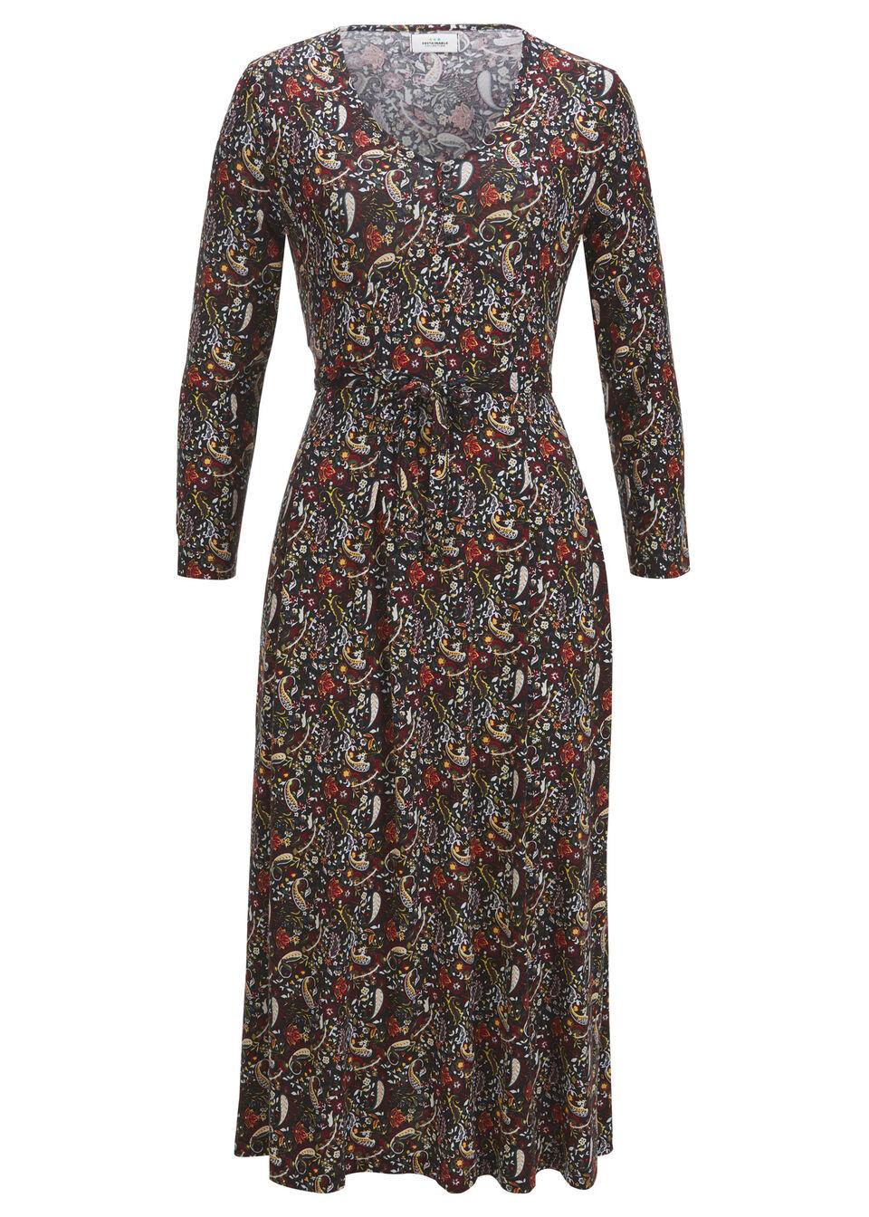 Sukienka midi, TENCEL™ Lyocell bonprix czarny