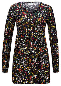 "Tunika shirtowa, TENCEL™ Lyocell czarny ""paisley"" bpc bonprix collection 0"